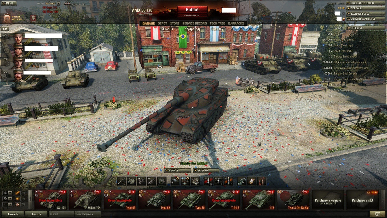 Sold - World of Tanks NA account - Type 59 and Type 62 - 27